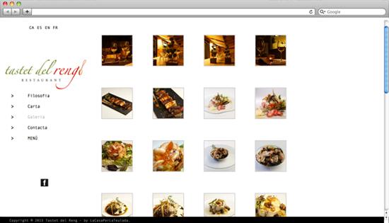Web restaurant Tastet del Reng