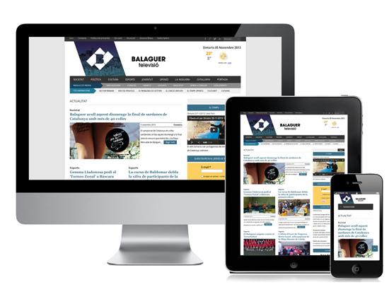 Balaguer televisió responsive web